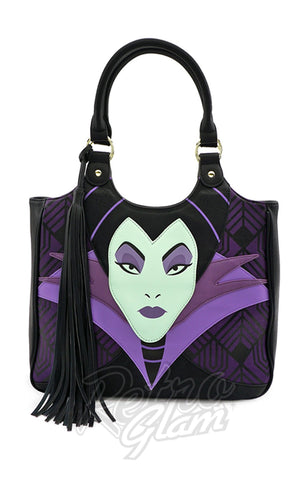 Loungefly x Disney Maleficent Head Tassle Tote Bag - Pre-Order