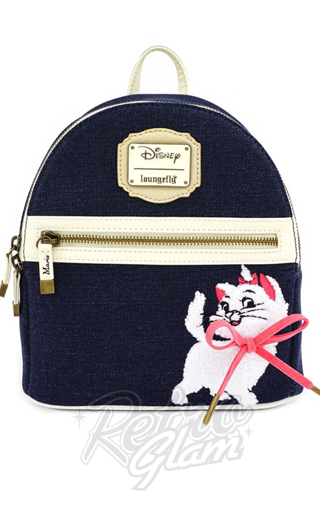 Loungefly x Disney Marie Denim Mini Backpack