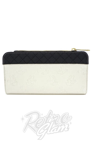 LOUNGEFLY X DISNEY MINNIE AND MICKEY BLACK & WHITE WALLET - Pre-Order