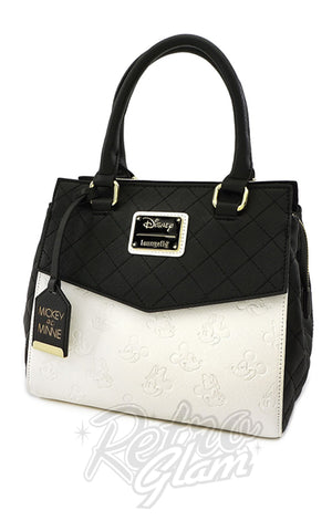 Loungefly X Disney MInnie and Mickey Black & White Handbag - Pre-Order