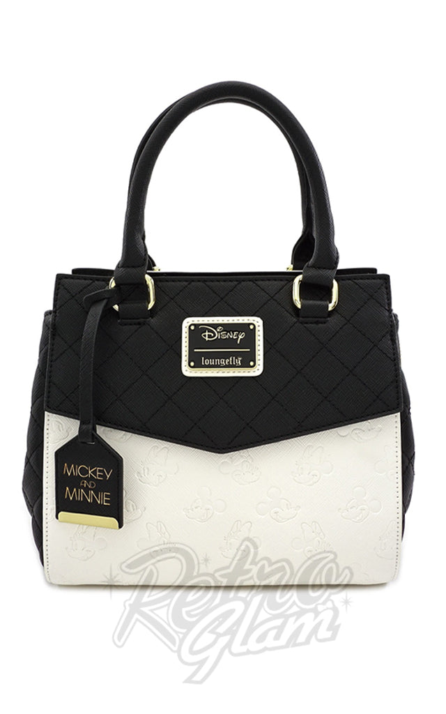 Loungefly X Disney MInnie and Mickey Black & White Handbag