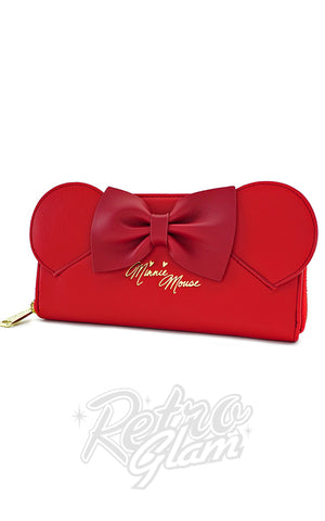 Loungefly Disney's Red Minnie Mouse with Ears and Bows Wallet