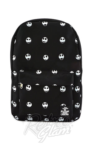 Loungefly x Nightmare Before Christmas Jack Head Nylon Backpack - Pre-Order