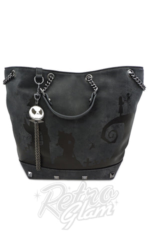 Loungefly X Nightmare Before Christmas Halloween Town Charm Bag -Pre-Order