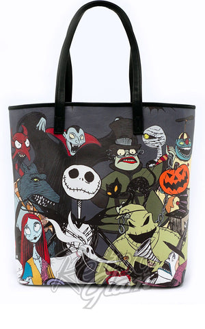 Loungefly Nightmare Before Christmas Character Tote Bag