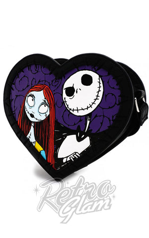 Loungefly Jack & Sally Heart Crossbody Bag