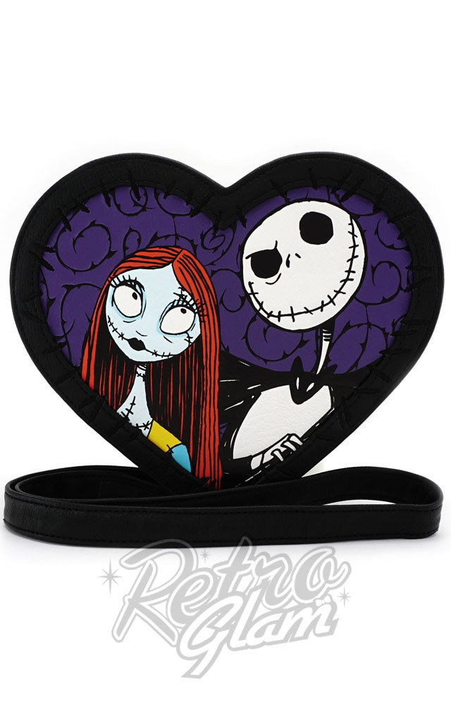 Loungefly Nightmare Before Christmas Jack & Sally Heart Crossbody Bag