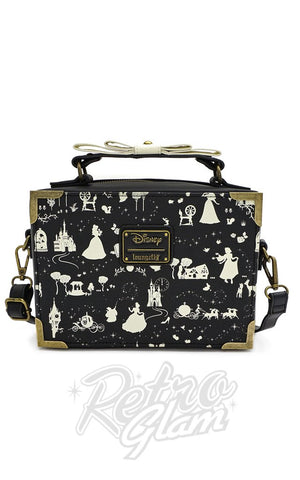 Loungefly X Disney Black & White Multi Princess Box Cross Body Bag