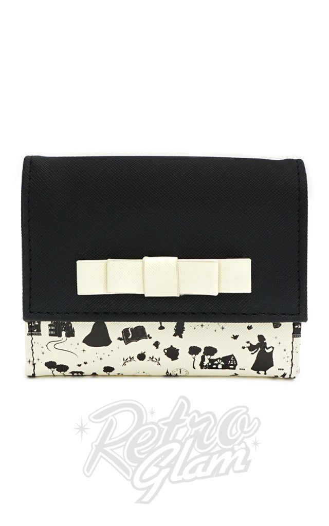 Loungefly X Disney Princess Black & White Flap Wallet