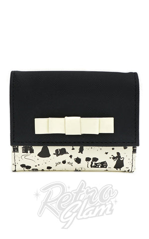 Loungefly X Disney Princess Black & White Flap Wallet - Pre-Order