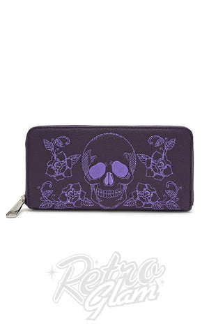 Loungefly Skull & Roses Purple Wallet