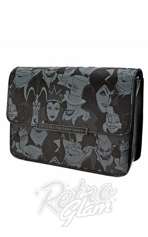 Loungefly x Disney Villain Black and Grey AOP Crossbody Bag