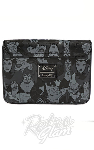Loungefly x Disney Villain Black and Grey AOP Crossbody Bag - Pre-Order