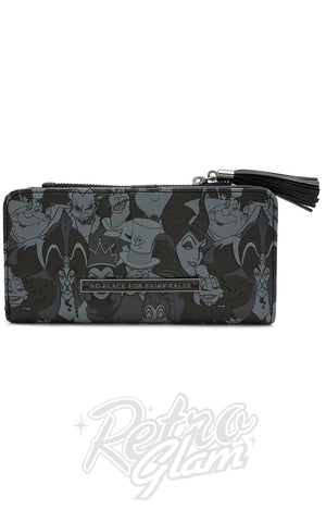 Loungefly X Disney Villains AOP Black & Grey Tassle Wallet