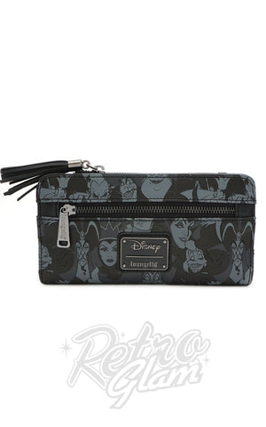 Loungefly X Disney AOP Black & Grey Tassle Wallet