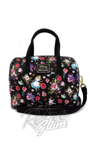 Loungefly Alice Character Floral Duffle Bag