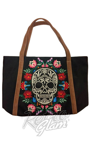 Loungefly Floral Sugar Skull Tote