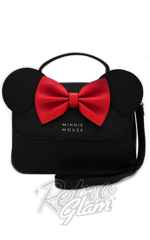 Loungefly Disney's Minnie Mouse Crossbody Bag with Ears and Bow