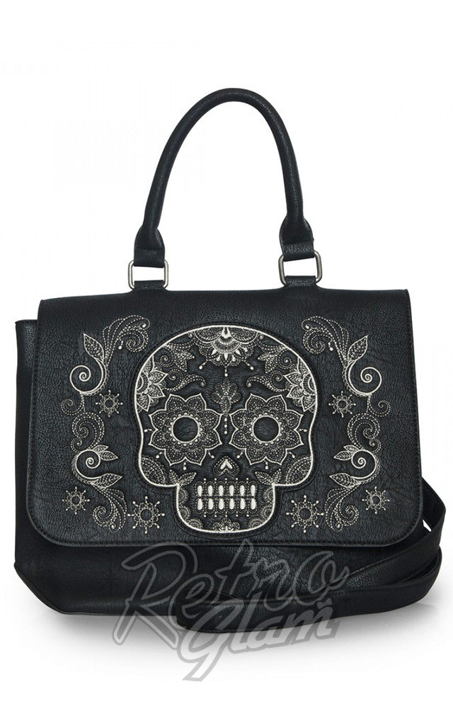 Loungefly Sugar Skull Black and White Crossbody Bag