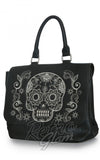 Loungefly Sugar Skull Black and White Faux Leather Crossbody Bag