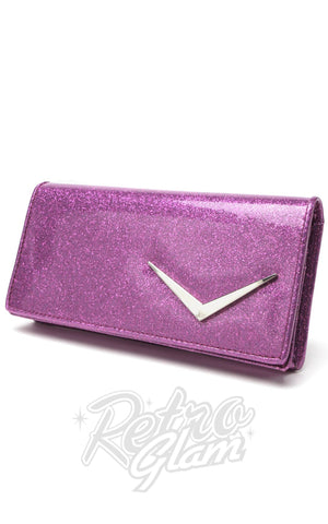 Lux de Ville Getaway Wallet in Purple Sparkle or Shiny Black