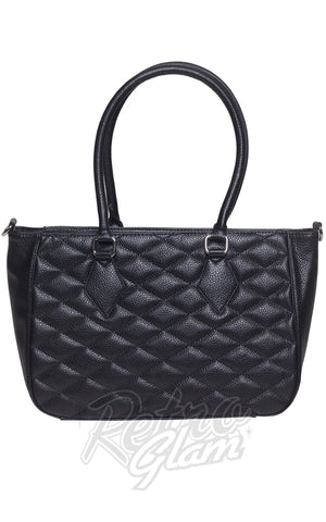 Lux De Ville Hold Tote Bag in Matte Black back