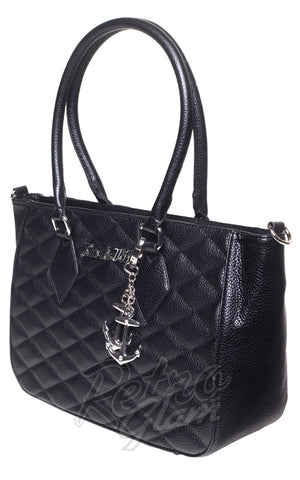 Lux De Ville Hold Tote Bag in Matte Black