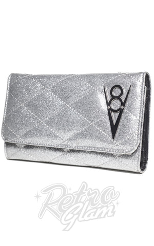 Lux de Ville Hot Rod Wallet in Silver Thunderstruck Sparkle side