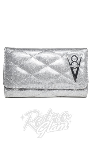 Lux de Ville Hot Rod Wallet in Silver Thunderstruck Sparkle