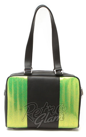 Lux De Ville Carry All Tote Black Matte and Lime Green Sparkle