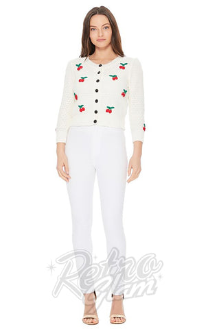 Mak Cherry Cardigan in White
