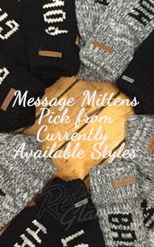 Deluxe Message Mittens