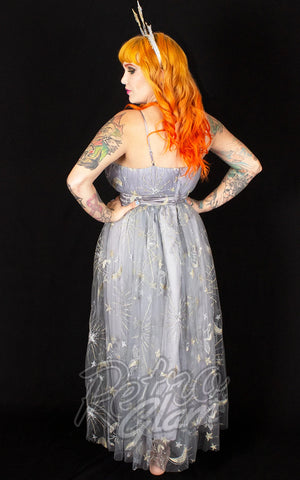 The Oblong Box Celestial Dreams Maxi Dress in Grey Pegasus back