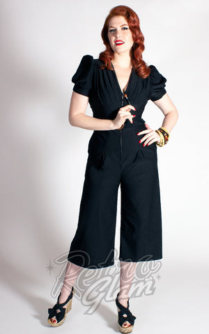 The Oblong Box Quiet Village Jumpsuit in Black