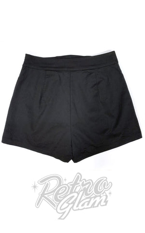 The Oblong Box 1940's Shorts in Black back