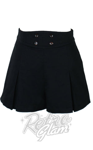 The Oblong Box 1940's Shorts in Black