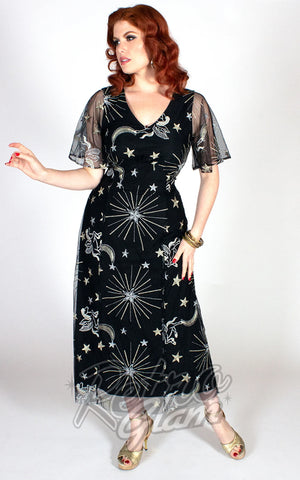 The Oblong Box Starling Flutter Dress in Black