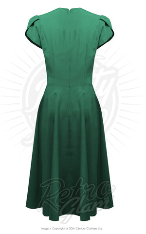 Pretty Retro 50s Swing Dress in Emerald back