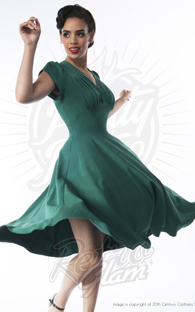 Pretty Retro 50s Swing Dress in Emerald