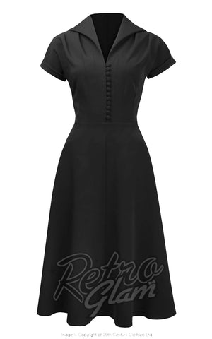 Pretty Retro Hostess Dress in Black