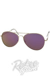 Purple Tinted Aviator Sunglasses