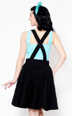 Putré Fashion Black Sandy Skirt with detachable suspenders