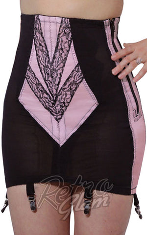 Rago Open Bottom Girdle in Black and Red