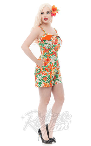 Rebel Love Castaway Playsuit Tropical Orange