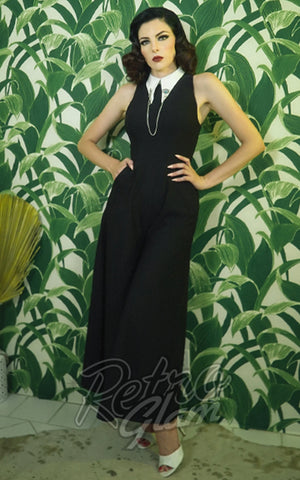 Rebel Love Headmistress Jumpsuit in Black