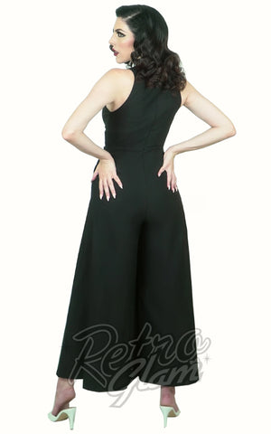 Rebel Love Headmistress Jumpsuit in Black back