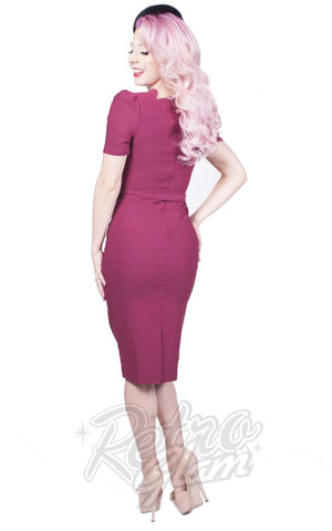 Rebel Love Indulgence Dress in Berry back
