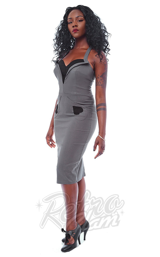 Rebel Love Lady Luck Dress in Grey