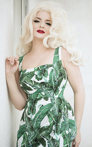Rebel Love Sippin Safari Dress in Banana Leaf Print