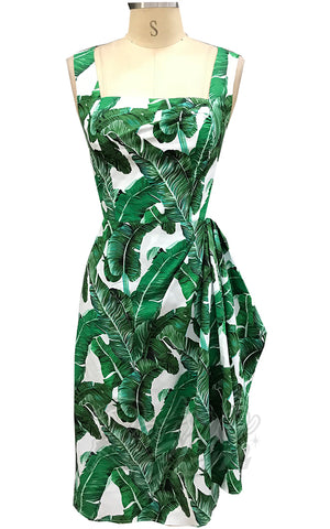 Rebel Love Sippin Safari Dress in Banana Leaf Print detail